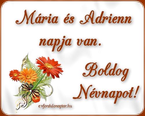 Szeptember 8 - Adrienn és Mária névnap