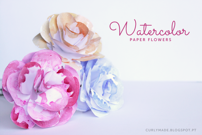 Curly MadeDIY Watercolor Paper Flowers