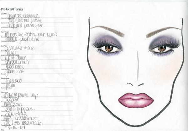 bocetos de maquillaje