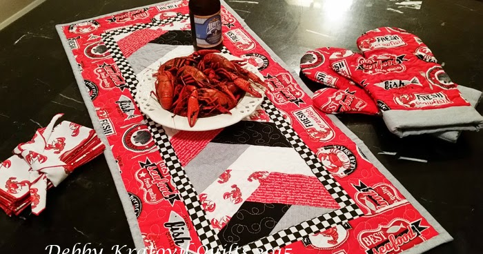 Debby Kratovil Quilts Crawfish Runner For Gumbo And