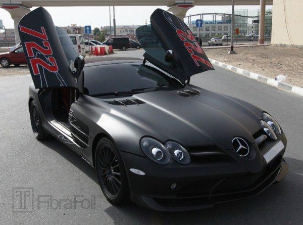 Dcgoldca matte black mercedes benz slr mclaren 722 for Matte black mercedes benz