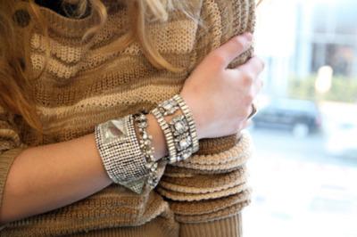 women bracelet glittery