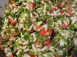 Salade de riz style taboulé Viviane