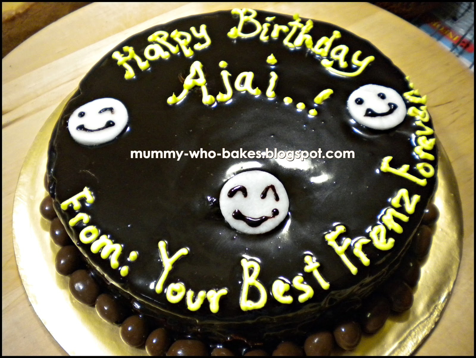 Birthday Cake Images With Name Ajay : My Little Cupcakes...: Moist Mud Chocolate Birthday Cake ...