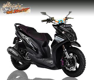 modifikasi Honda BeAT FI hitam