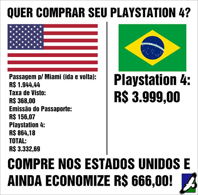 Importar o novo Playstation 4 dos Estados Unidos