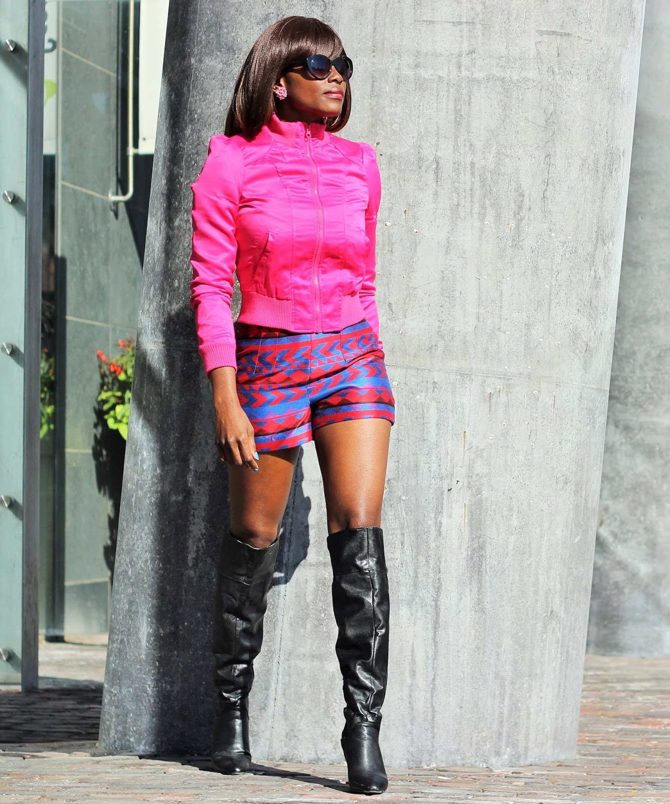 Knee High Boots x Jacket x Shorts