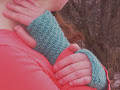 Diagonal Rib Mitts - 5.00 USD