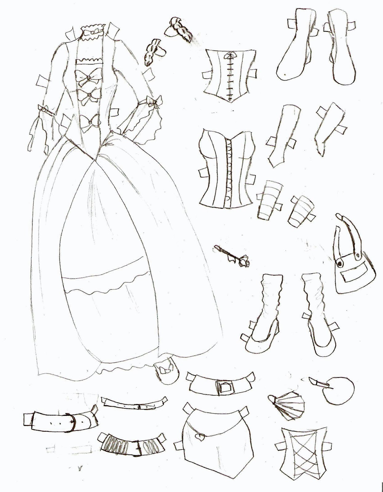 Miss Missy Paper Dolls Lucy Clothes 4