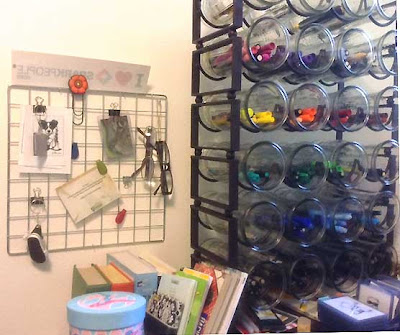 wine rack art marker organization