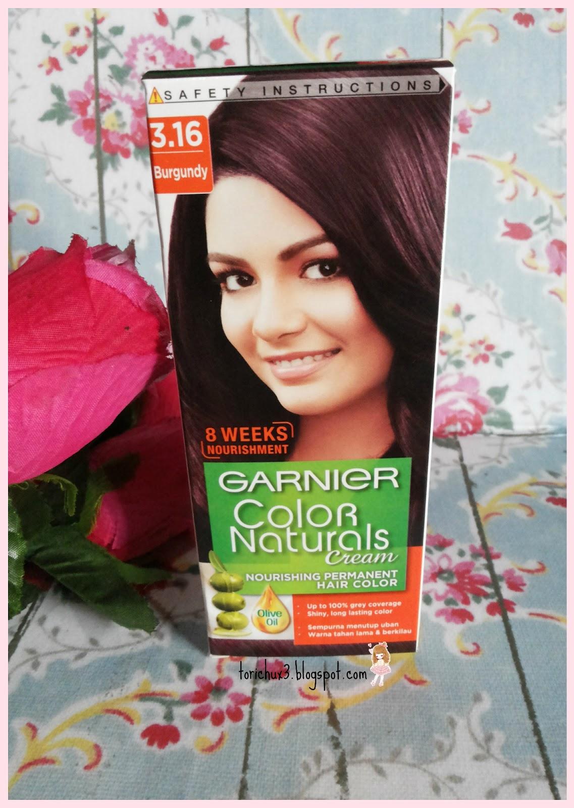 Tori Chu Review Garnier Color Naturals Cream 316 Burgundy