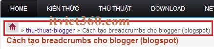 breadcrumbs cho blogspot