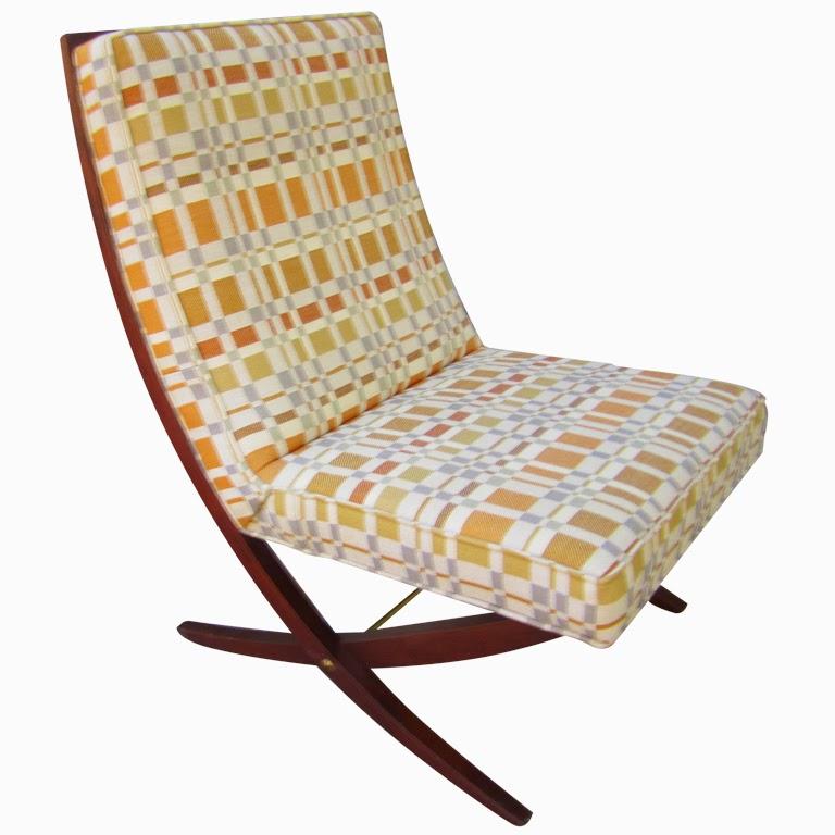John Stuart Scissor Chair Upholstered With Kroll Fabric 1stdibs.com