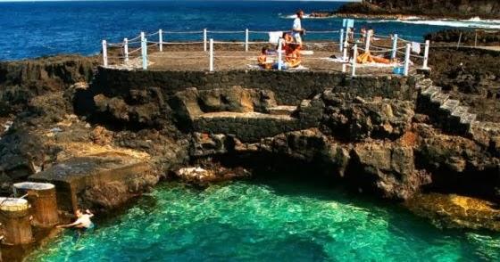 Isla de tenerife v vela piscinas naturales charco azul y for Piscinas naturales isla de la palma