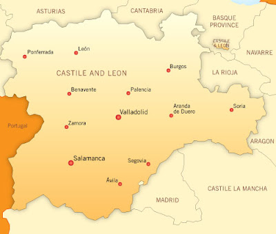 Castile and Leon Map Information