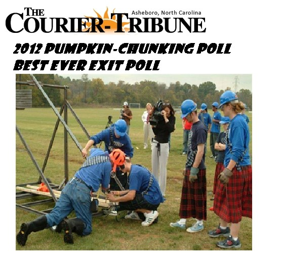 The Courier-Tribune Pumpkin Chunking Poll