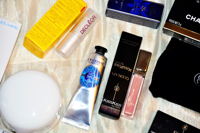 guerlain kisskiss gloss rose loccitane handcream