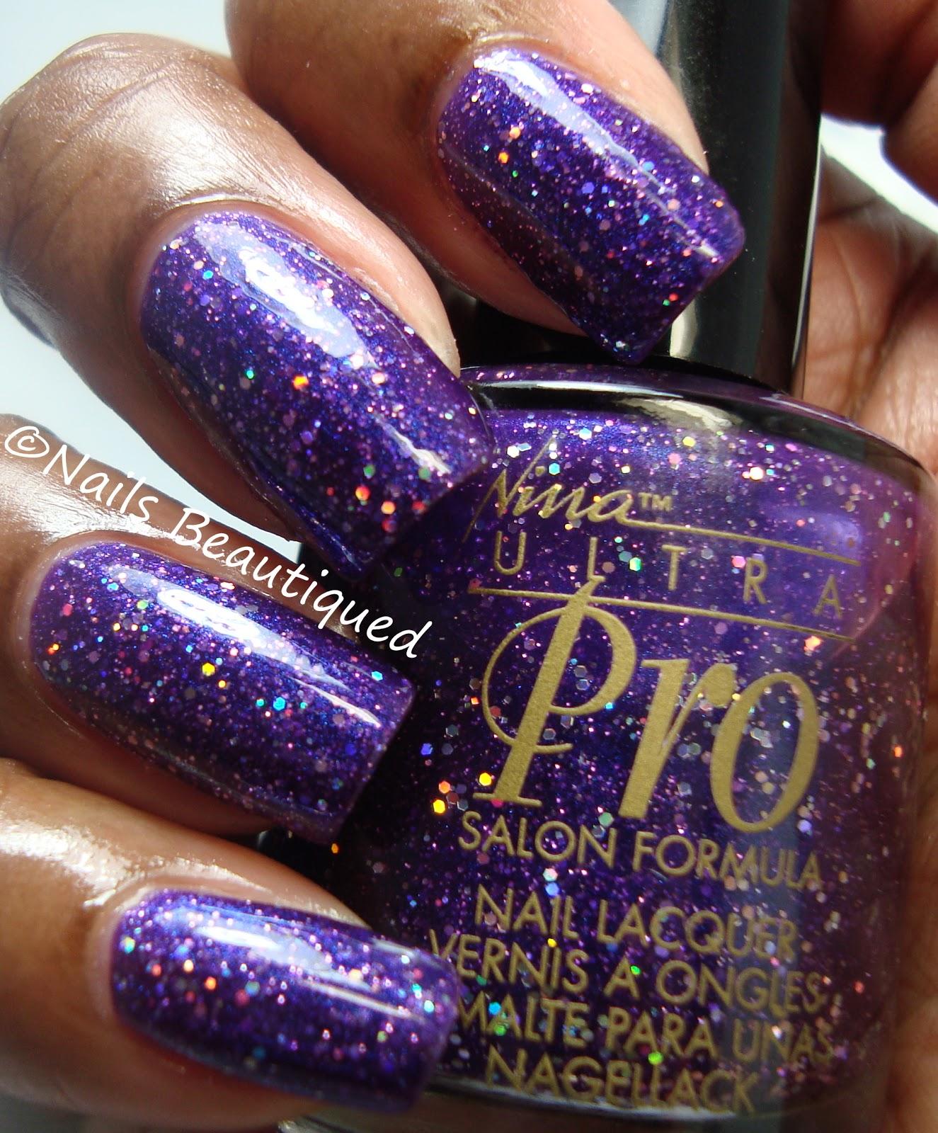 unbitten polish: 30 Days Of Purple, Day 6: Nina Ultra Pro PURPLE-XING