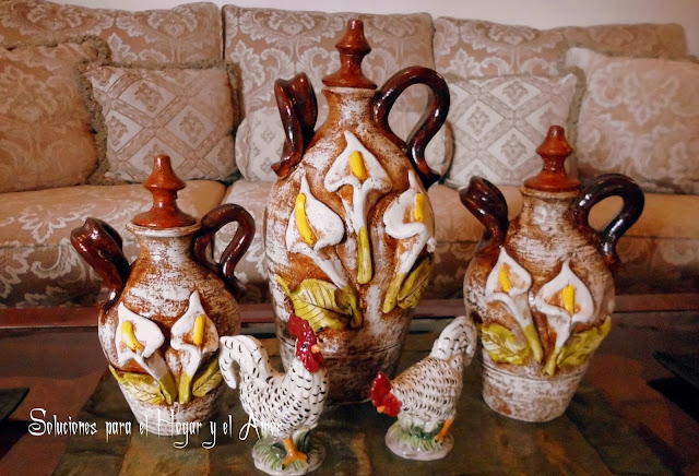 jarrones para decorar, jarrones de barro, jarrones rústicos