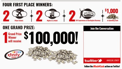 #Win $100,000 Dollar in the #NASCAR Dash for Cash