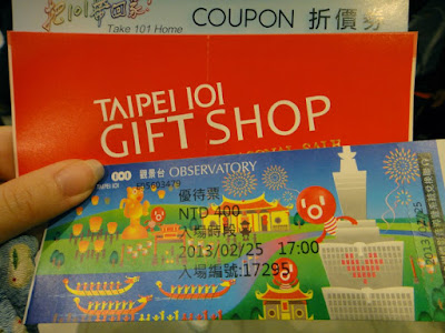 Ticket for Taipei 101 Observatory Taiwan