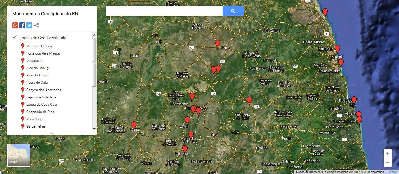 locais de geodiversidade RN