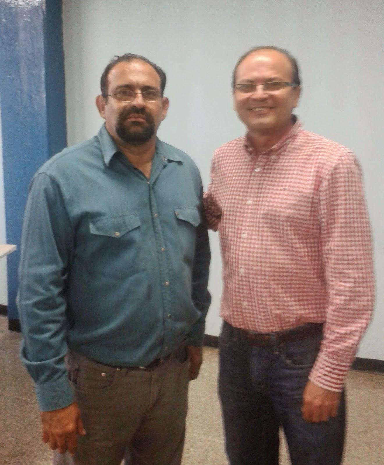 Emerson Cuadra Presidente de APESSLA  y el Dr Hector Parra Leal