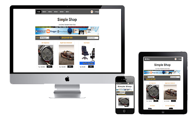 simple shop responsive view