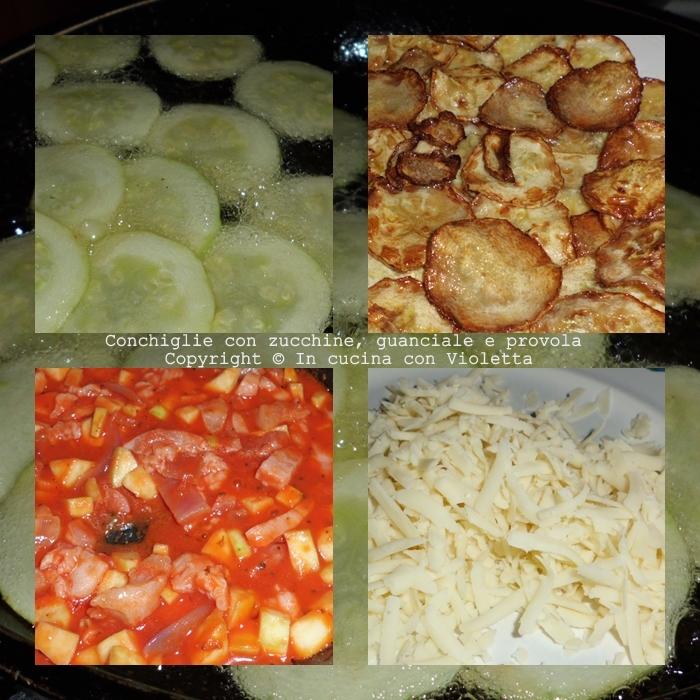 Conchiglie con zucchine, guanciale e provola Copyright © In cucina con Violetta