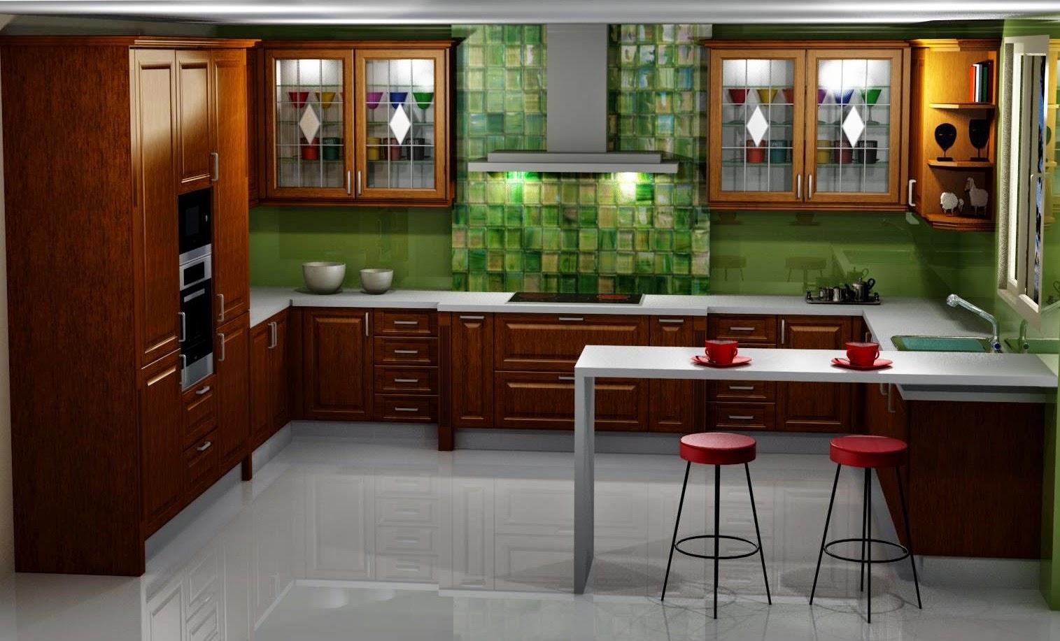 dise o muebles de cocina dise o de cocina comedor en madera ForDiseno Cocina Comedor