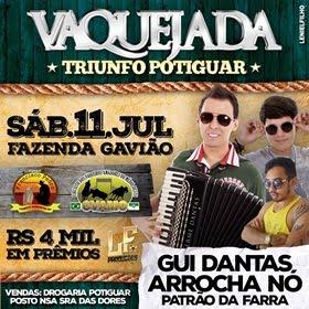 Dia 11 de Julho tem a Tradicional Vaquejada do Parque Francisco Pedro em Triunfo Potiguar