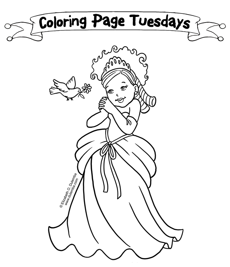 Little Princess Coloring Pages To Print : The little princess coloring pages to printable