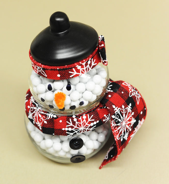 Ben Franklin Crafts and Frame Shop: Snowman Candy Jar