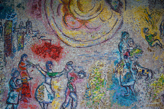 Mosaico de Chagall - Chicago