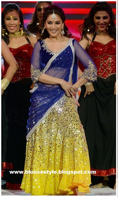designer Bollywood lehenga style saree