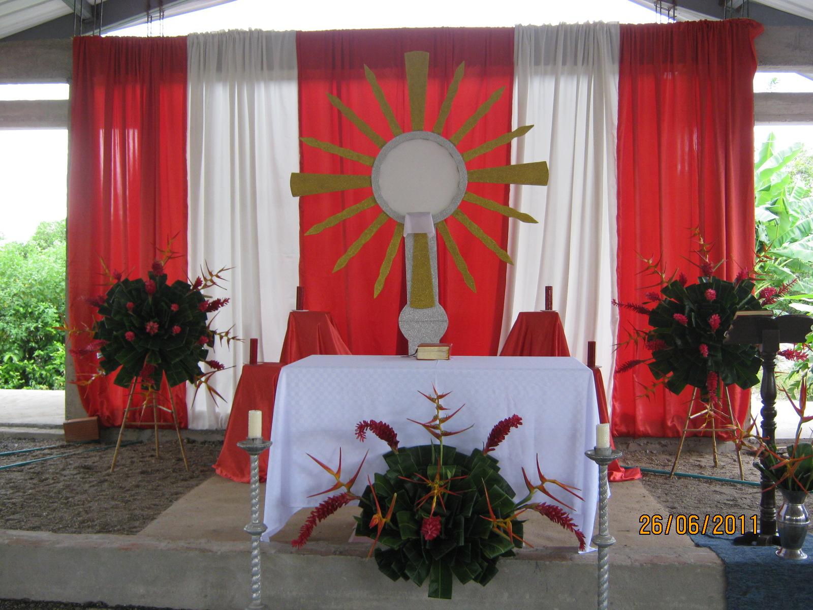 Decorar Altar De Iglesia ~   SE?ORA DEL CARMEN DE VEL? Sant?simo Cuerpo y Sangre de Cristo 2011