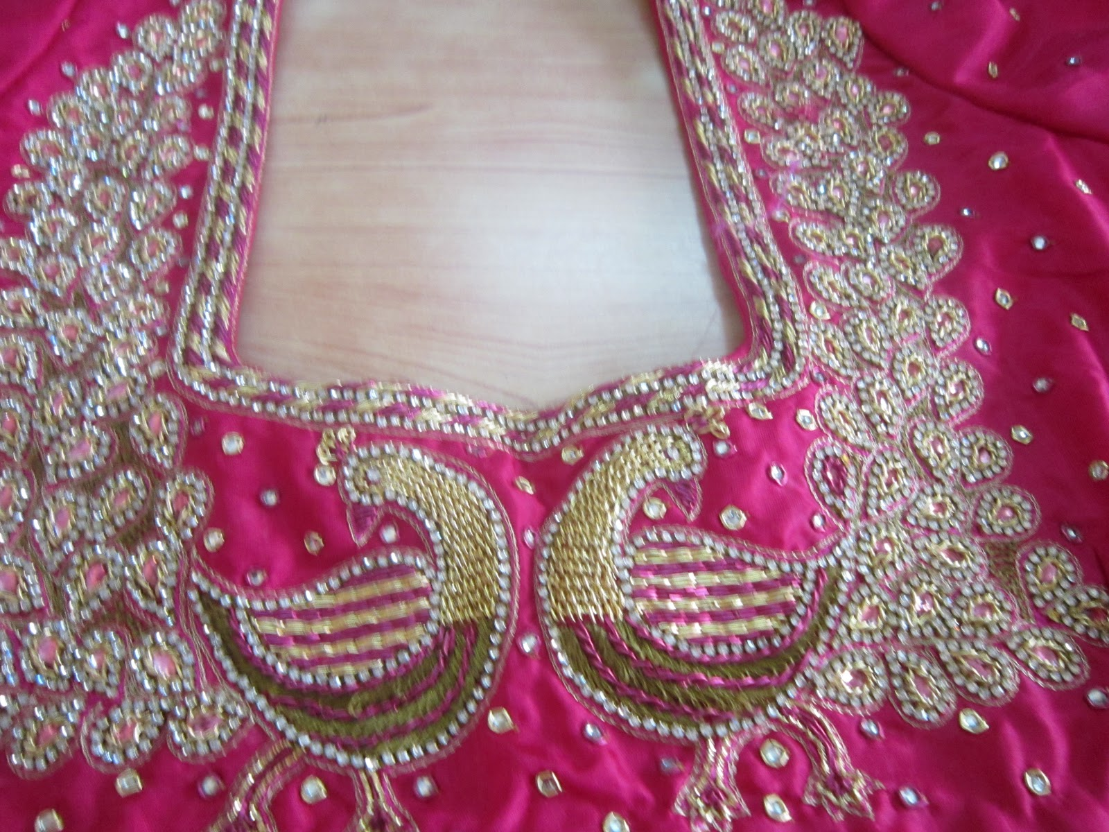 Designer Blouses New Embroidery Designs On Blouses..!!