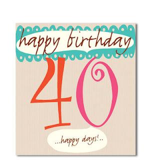 age 40 birthday age cards liz and pip ltd