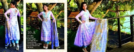 Stunning Pink Printed Lawn Designs Frock