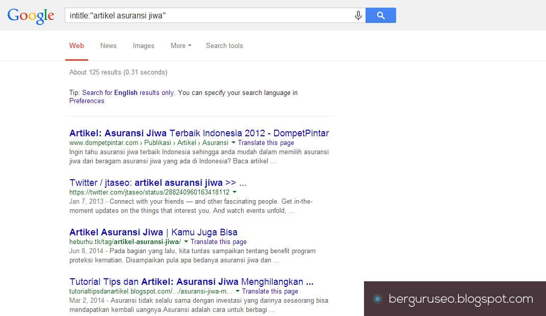 Jumlah Pencarian Niche Blog Asuransi