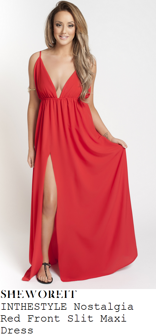 charlotte-crosby-red-sleeveless-plunge-front-maxi-dress