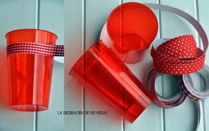la decoración de mis mesas: DIY: Vasos de plástico decorados con ...