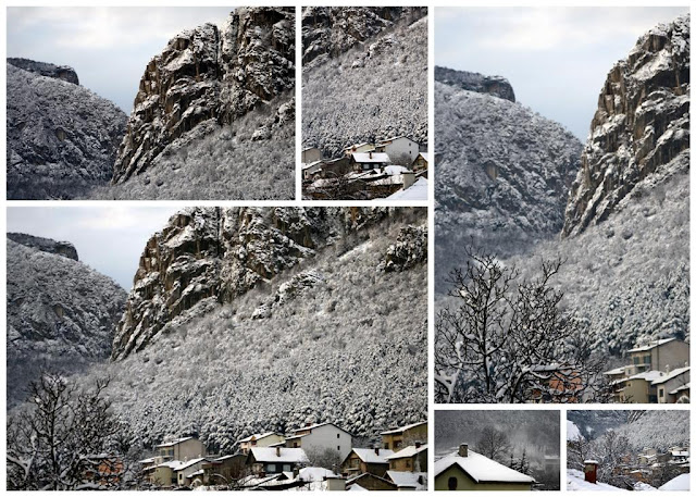 snowy mountain tops in Vratsa Bulgaria