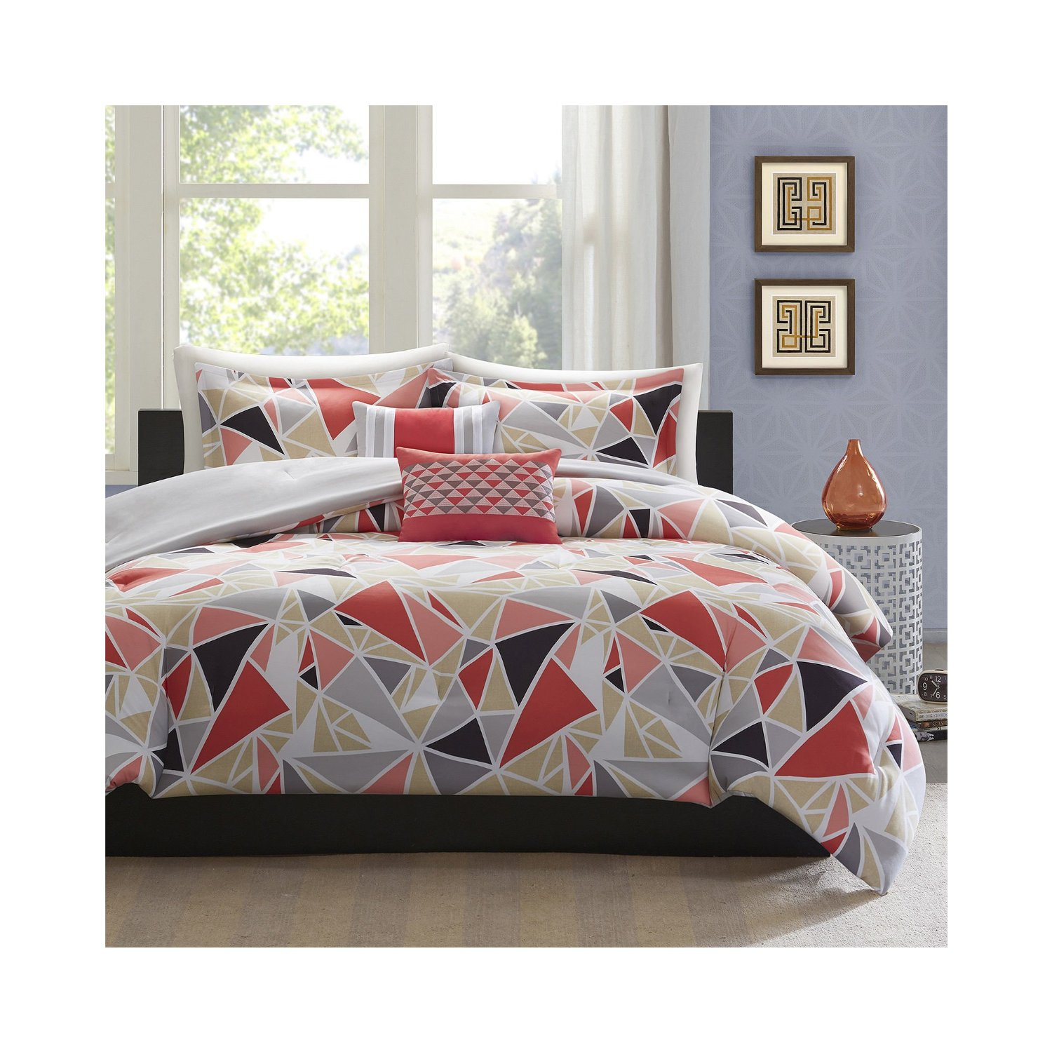 geometric bedding best  geometric bedding ideas that you will  - total fab peach colored comforters bedding sets