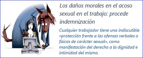 MobbingMadrid Los daños morales en el acoso sexual en el trabajo: procede indemnización