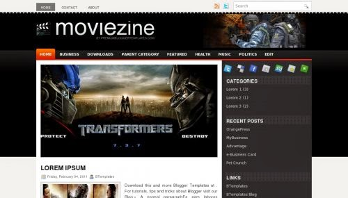 MovieZine - Free Blogger Template