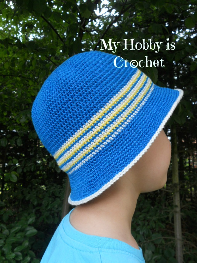 Free Crochet Pattern For Childs Owl Hat : My Hobby Is Crochet: Crochet Cotton Sun Hat for Children ...
