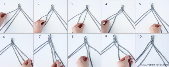 Как сделать из резинок повязку