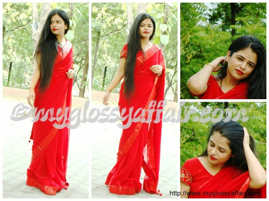 Sizzling Red Saree