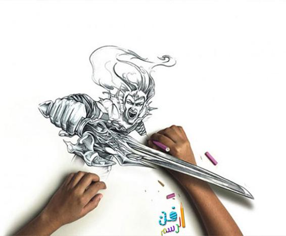 رسومات ثلاثية الأبعاد 3d بقلم الرصاص